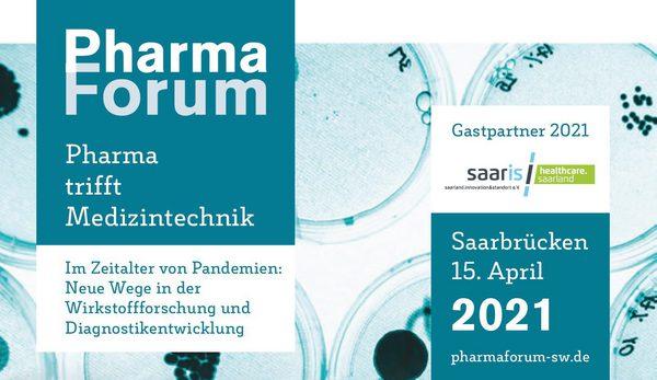 Veranstaltet wird das PharmaForum durch den Verband Forschender Pharma-Unternehmen (vfa), den Gesundheitspolitischen Arbeitskreis Mitte als Interessengemeinschaft forschender Pharma-Unternehmen und die Wirtschaftsressorts der Länder Rheinland-Pfalz und Hessen sowie die Staatskanzlei des Saarlandes.