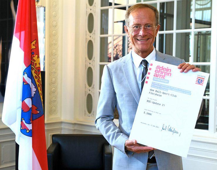 Landesregierung fördert Digitalisierungsprojekt des Ball-Sport-Clubs Flörsheim mit mehr als 5.000 Euro