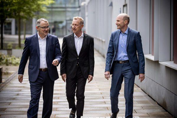 Die drei Geschäftsführer der Hessen Agentur Holding