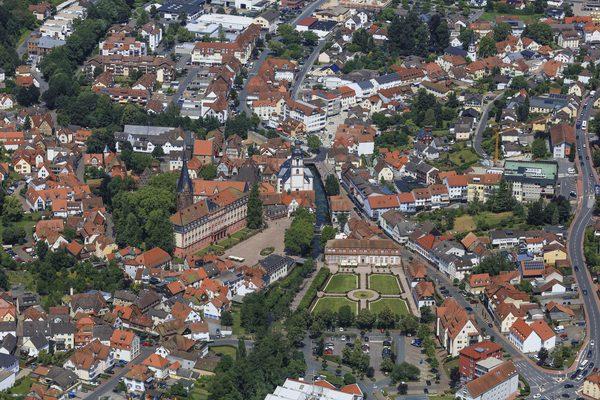 Luftaufnahme von Erbach im Odenwald