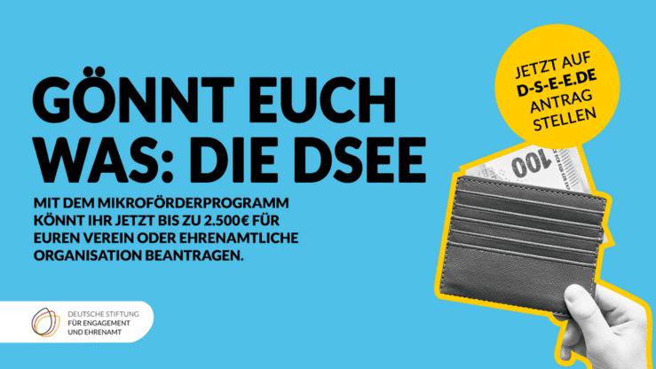 DSEE-Mikroförderprogramm: Ehrenamt gewinnen. Engagement binden. Zivilgesellschaft stärken.