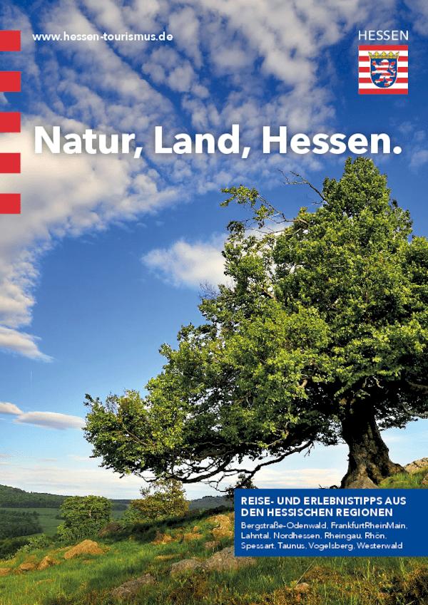 "Broschüre: ""Natur, Land, Hessen."""