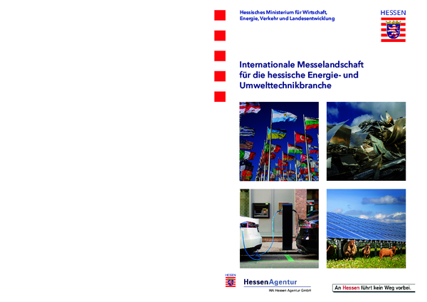 Internationale Messelandschaft für die hessische Energie- und Umwelttechnikbranche