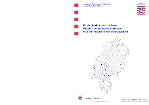 Erreichbarkeit des nächsten Mittel-/Oberzentrums in Hessen mit dem öffentlichen Personennahverkehr