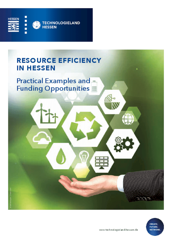 Resource Efficiency in Hessen - Practical Examples and Funding Opportunities