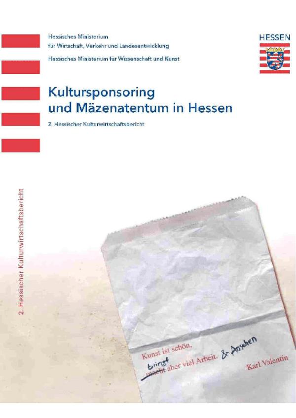 Zweiter Kreativwirtschaftsbericht Hessen