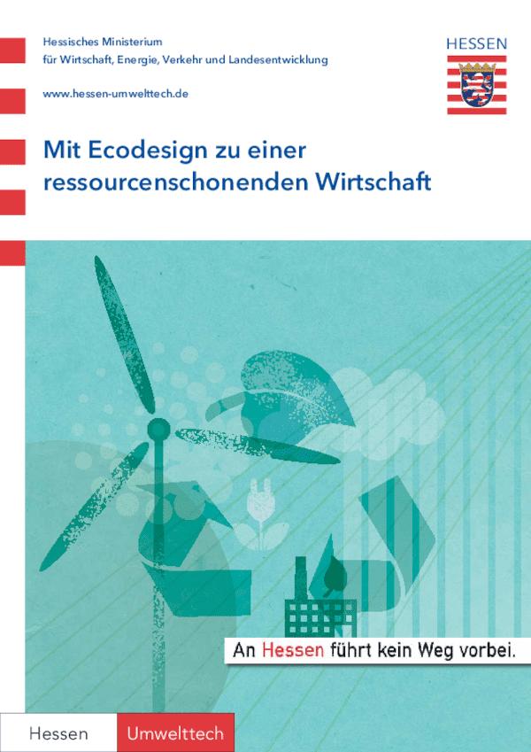 Mit Ecodesign zu einer ressourcenschonenden Wirtschaft
