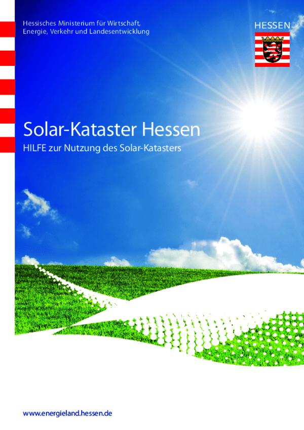 Hilfe zur Nutzung des Solar-Katasters