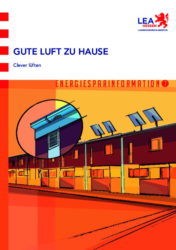 Energiesparinformation 7: Gute Luft zuhause - Clever lüften