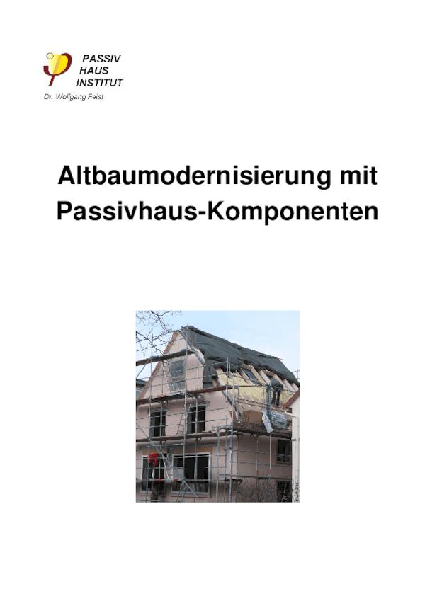 Handbuch Altbaumodernisierung mit Passivhaus-Komponenten