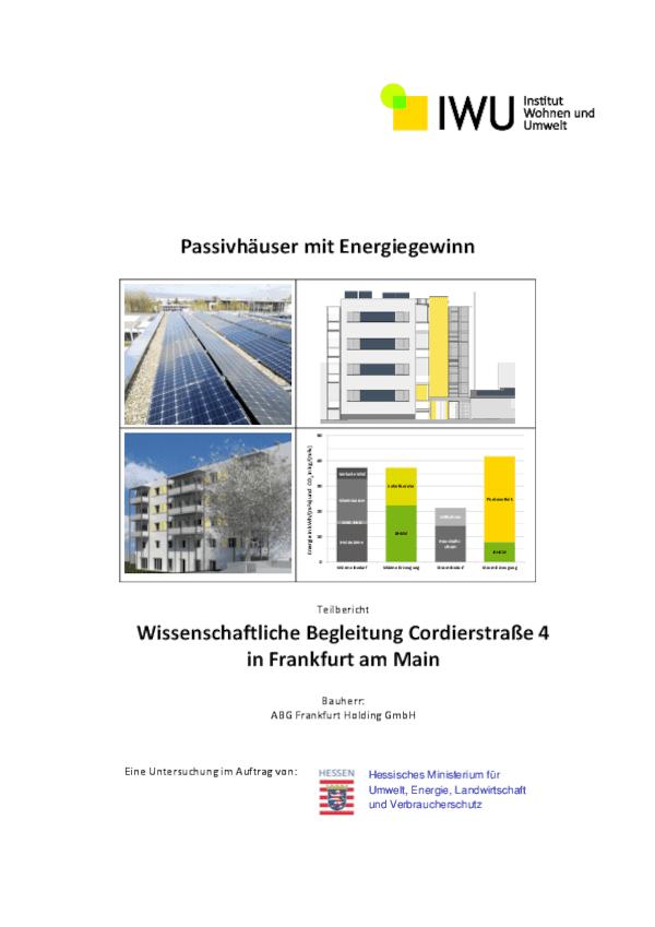 Teilbericht 1 des IWU zum Projekt Cordierstraße