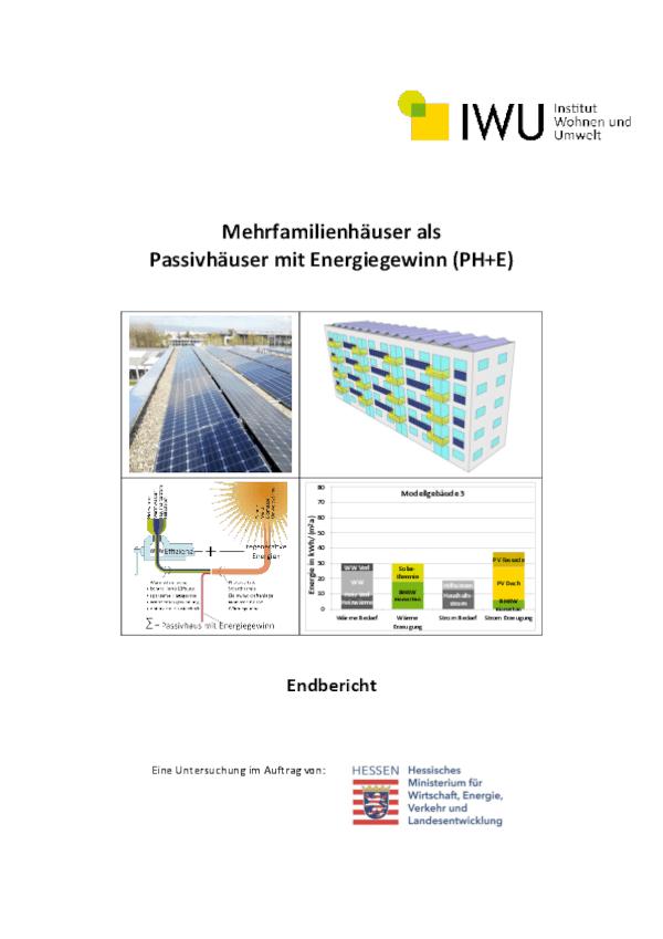 Teilbericht 2 des IWU zum Projekt Cordierstraße