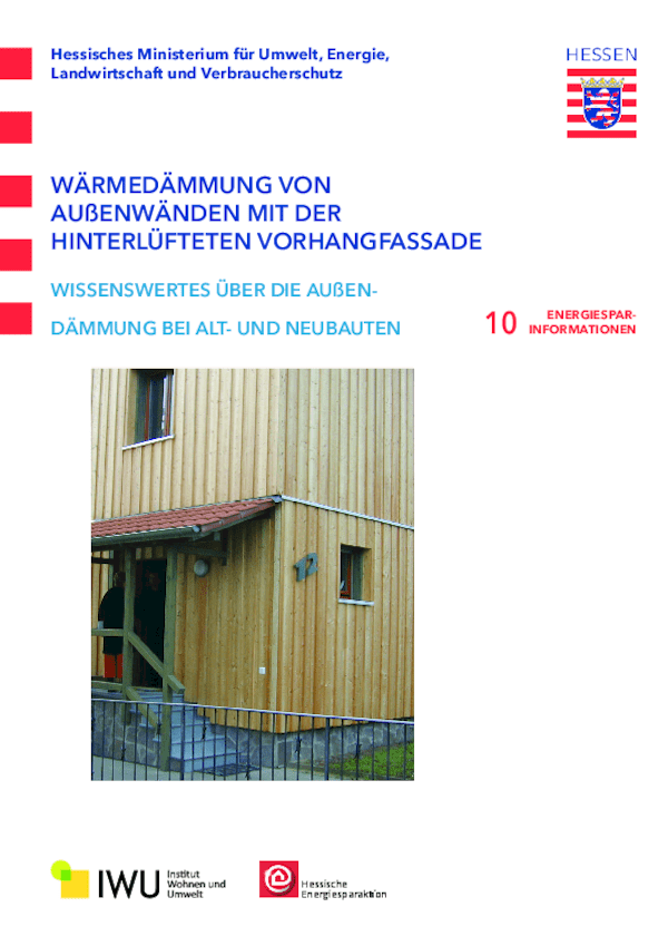 Wärmedämmung von Außenwänden mit der hinterlüfteten Vorhangfassade ...