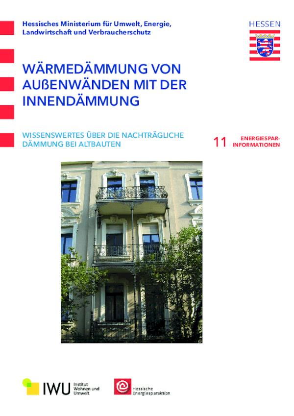 Wärmedämmung von Außenwänden mit der Innendämmung (Nr. 11)