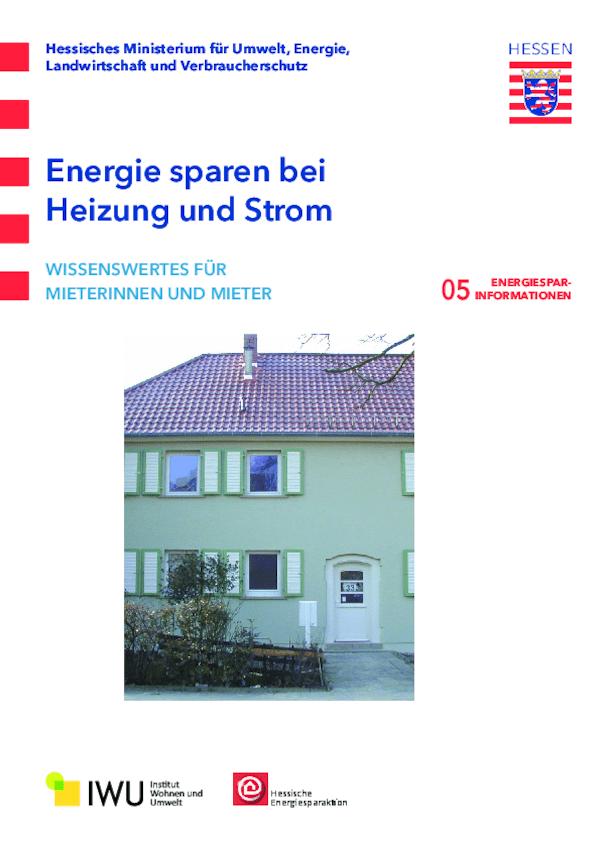 Energie sparen bei Heizung und Strom (Nr. 5)