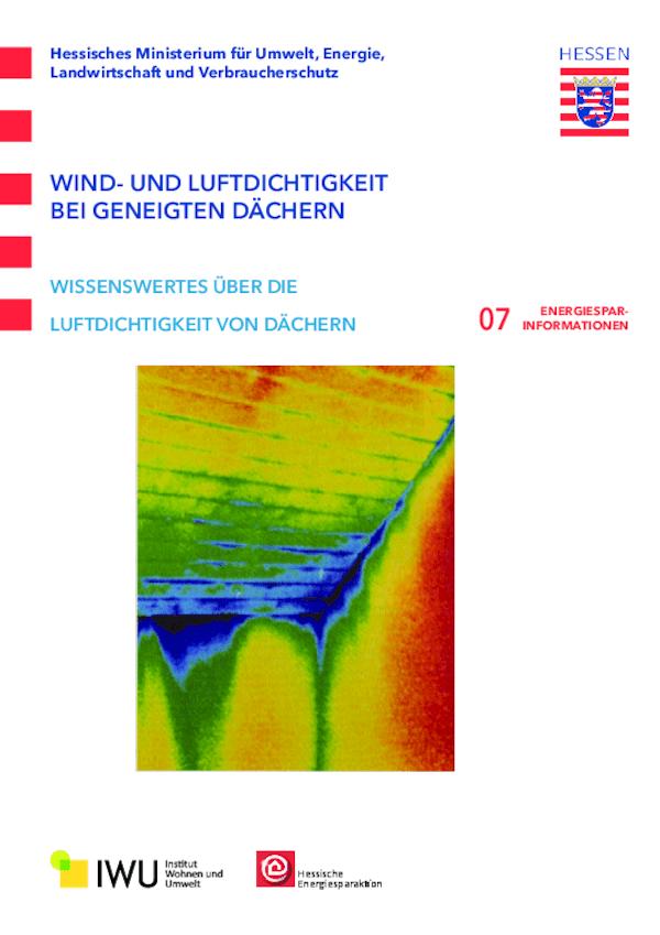 Wind- und Luftdichtigkeit bei geneigten Dächern (Nr. 7)
