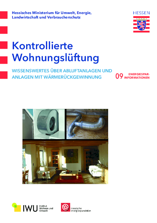 Kontrollierte Wohnungslüftung (Nr. 9)