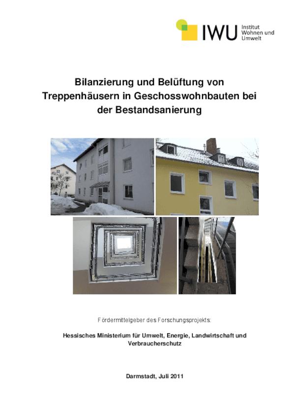 Bilanzierung und Belüftung von Treppenhäusern in Geschosswohnbauten bei der Bestandsanierung