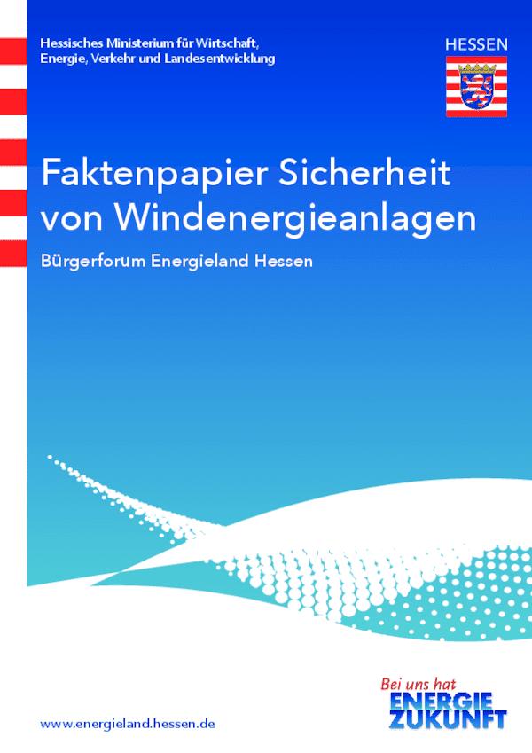 Faktenpapier Sicherheit von Windenergieanlagen