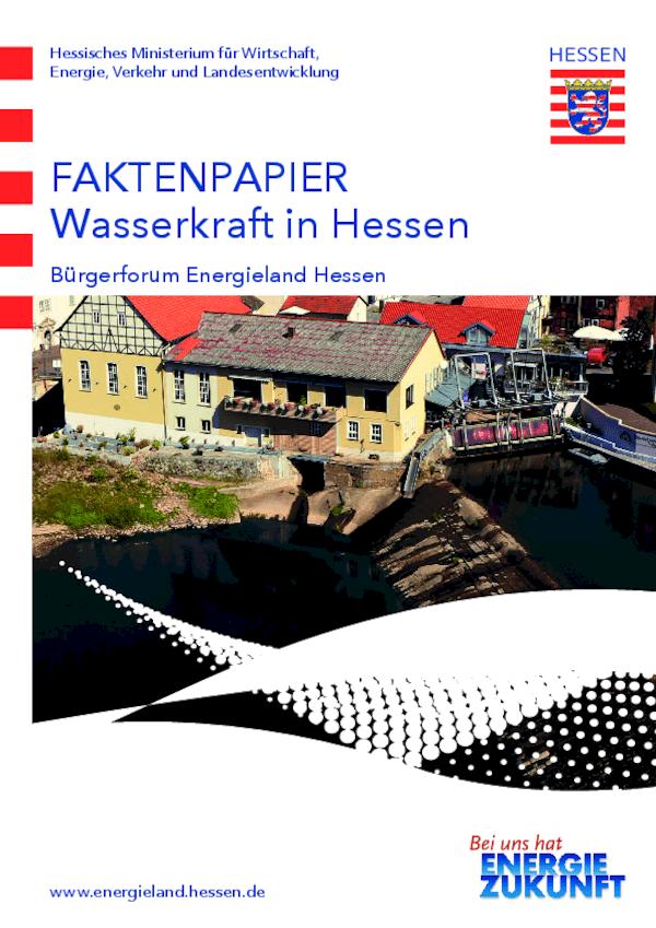 Faktenpapier Wasserkraft in Hessen