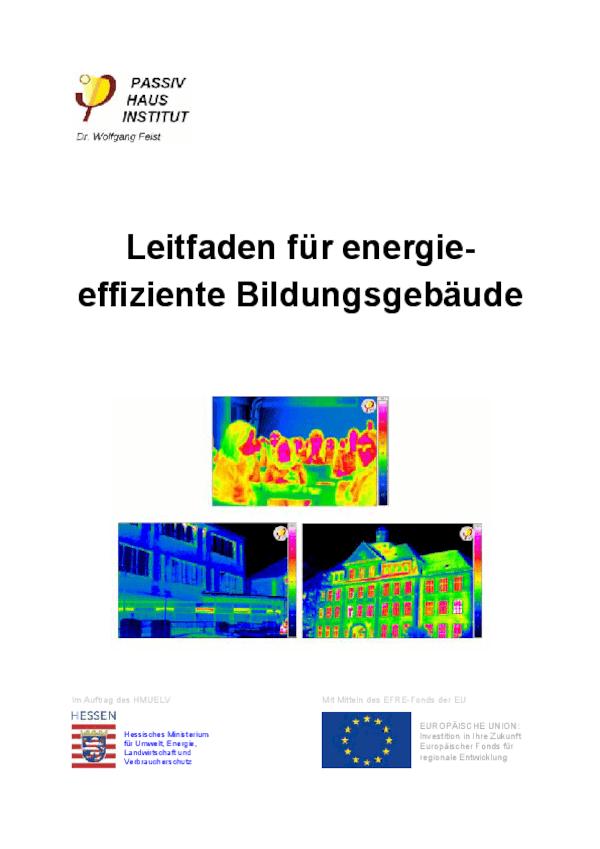 Leitfaden für energieeffiziente Bildungsgebäude