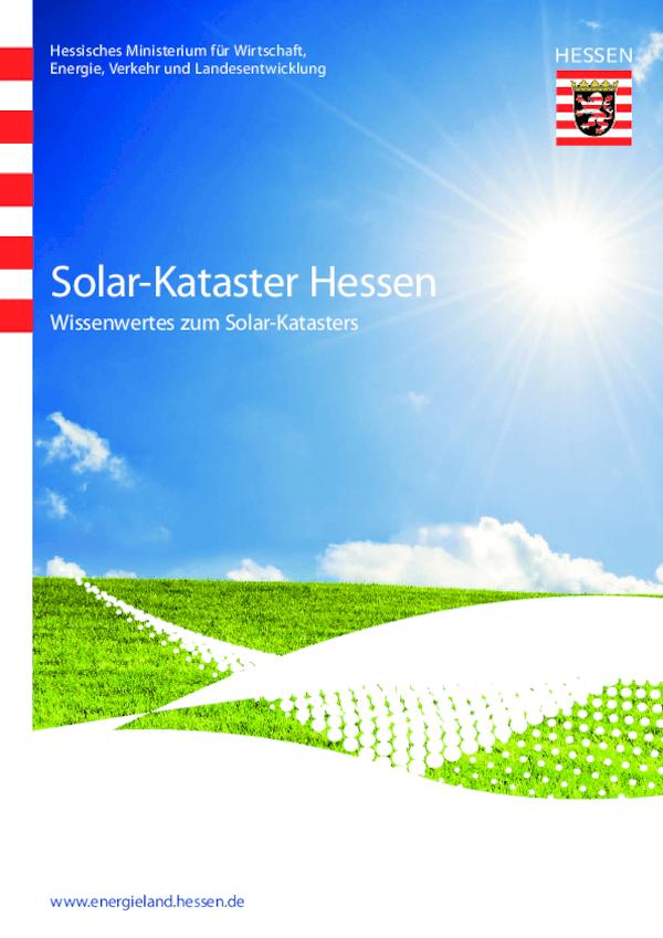 Wissenwertes zum Solar-Kataster Hessen