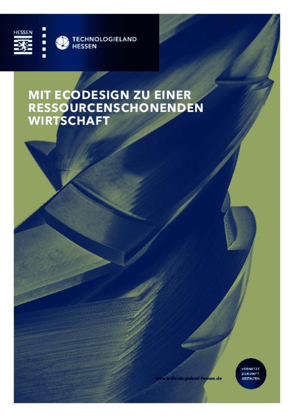 Mit Ecodesign zu einer ressourcenschonenden Wirtschaft (2. Auflage)