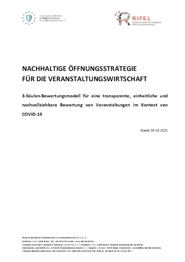 Nachhaltige Öffnungsstrategie für die Veranstaltungswirtschaft