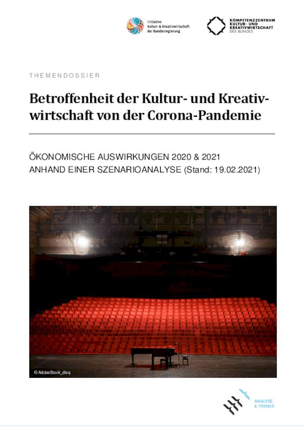 Betroffenheit der Kultur- und Kreativwirtschaft von der Corona-Pandemie