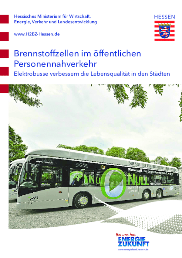 Brennstoffzellen im öffentlichen Personennahverkehr Elektrobusse verbessern die Lebensqualität in den Städten