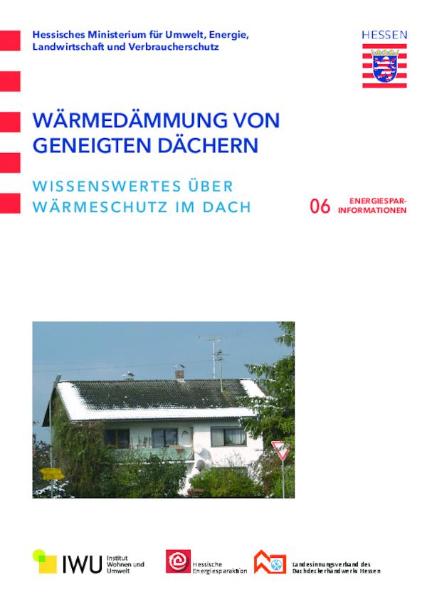 Wärmedämmung von geneigten Dächern