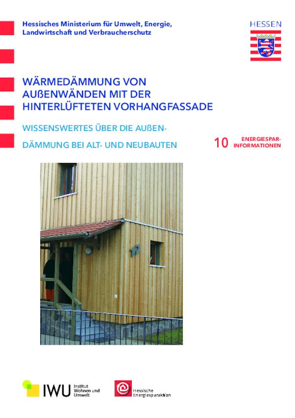 Wärmedämmung von Außenwänden mit der hinterlüfteten Vorhangfassade