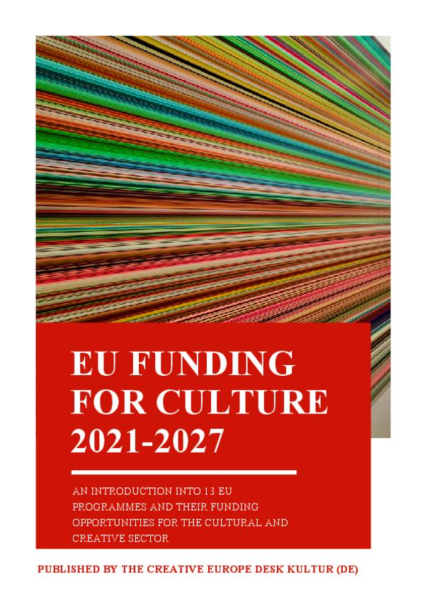 EU funding for culture 2021 - 2027