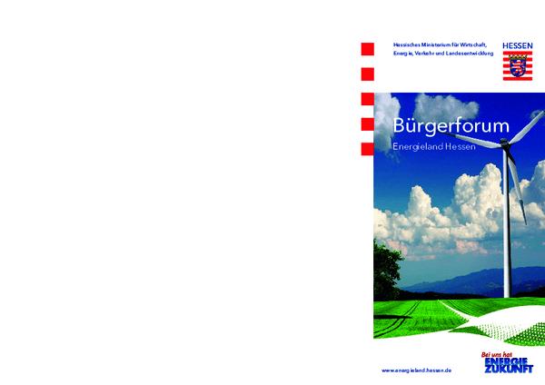 Bürgerforum Energieland Hessen Flyer