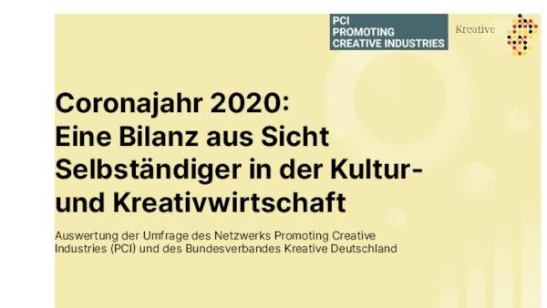 Coronajahr 2020:  Eine Bilanz aus Sicht Selbständiger in der Kultur- und Kreativwirtschaft
