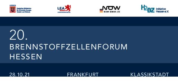 Flyer für das 20. Brennstoffzellenforum Hessen am 28.10. 2021