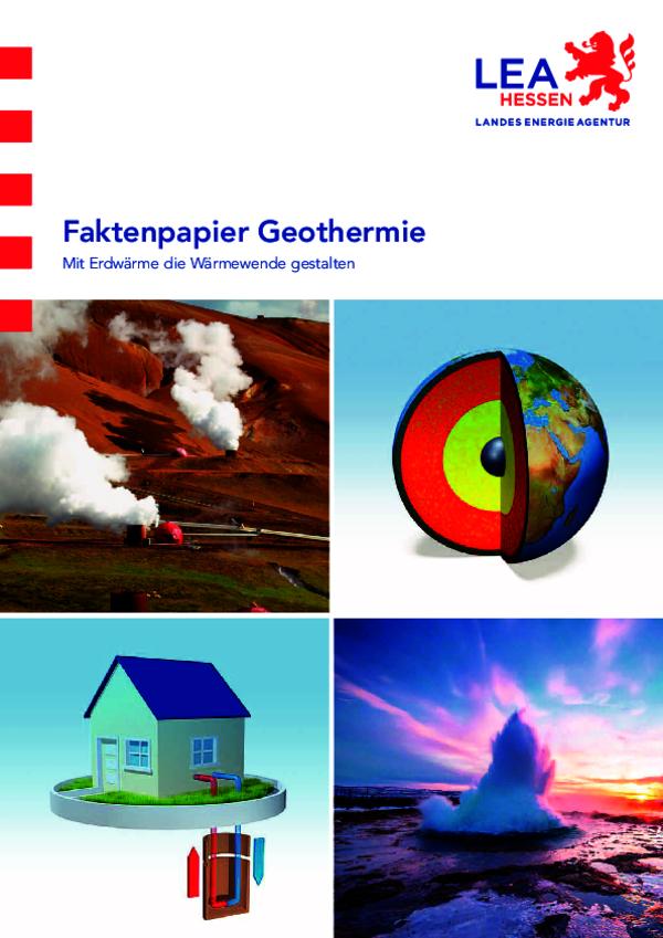 Faktenpapier - Geothermie