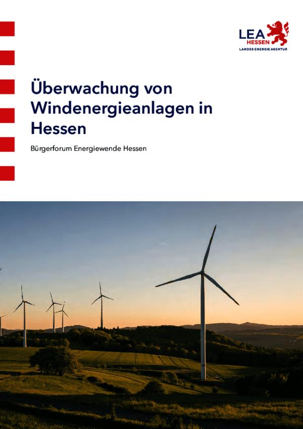 Überwachung von Windenergieanlagen in Hessen - Onlineversion