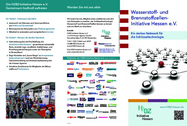 Flyer Wasserstoff- und Brennstoffzellen-Initiative Hessen e.V.
