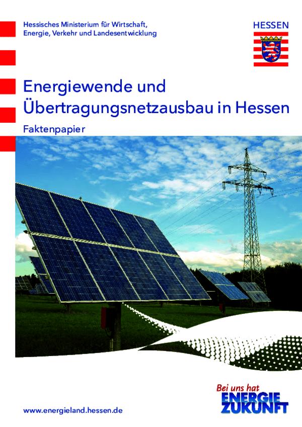 Faktenpapier Energiewende und Übertragungsnetzausbau in Hessen