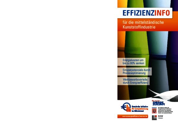Flyer Effzienzinfo für die mittelständische Kunststoffindustrie (HIEM) 2016