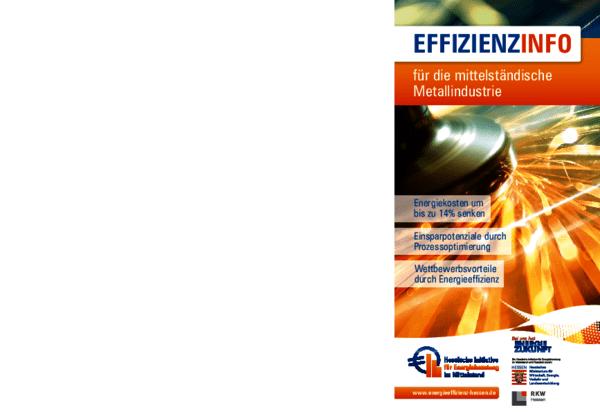Flyer Effizienzinfo für die mittelständische Metallindustrie