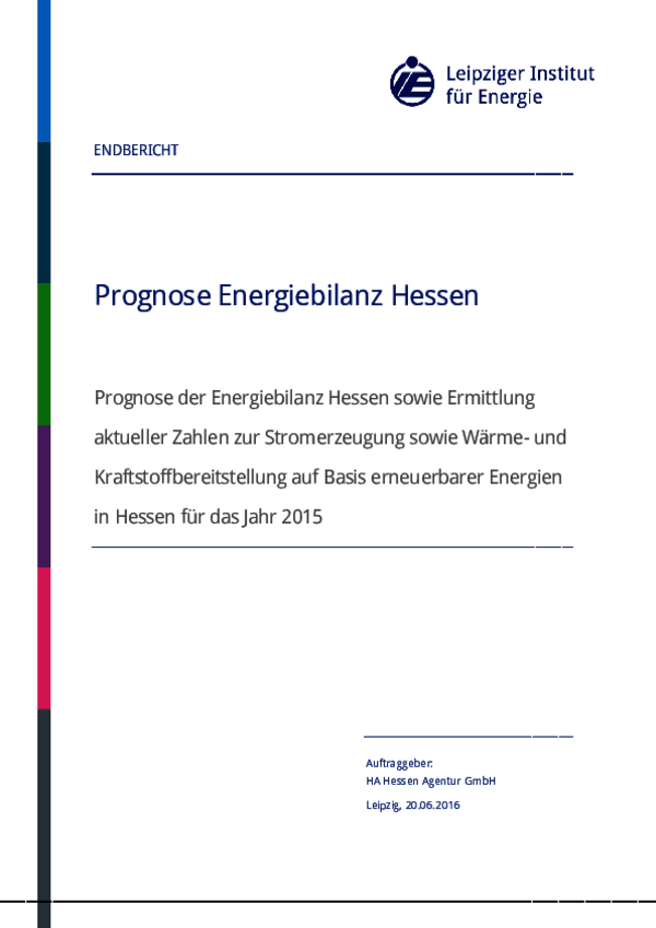 Endbericht Prognose Energiebilanz Hessen