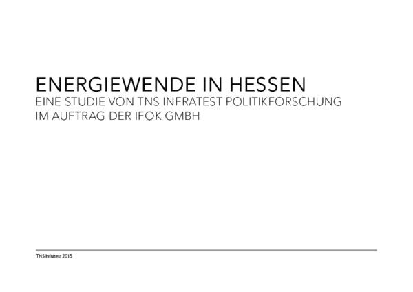 Studie Energiewende in Hessen 2015