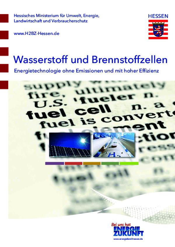 Broschüre Wasserstoff und Brennstoffzellen