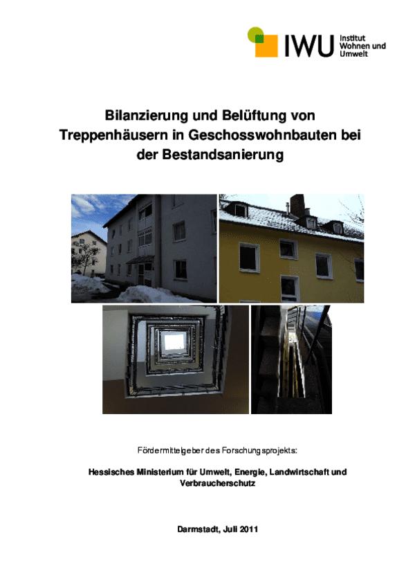 Endbericht Treppenhäuser (IWU) 2011