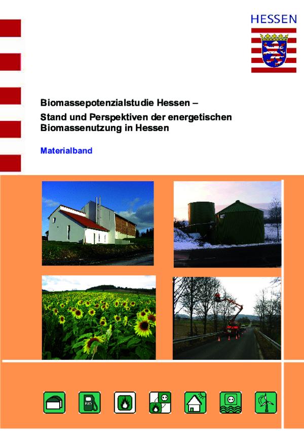 Biomassepotenzialstudie Materialband 2009