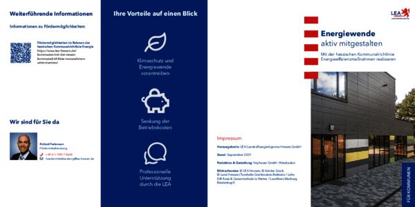 Flyer: Energiewende aktiv  mitgestalten – Mit der neuen Kommunalrichtlinie Energieeffizienzmaßnahmen realisieren