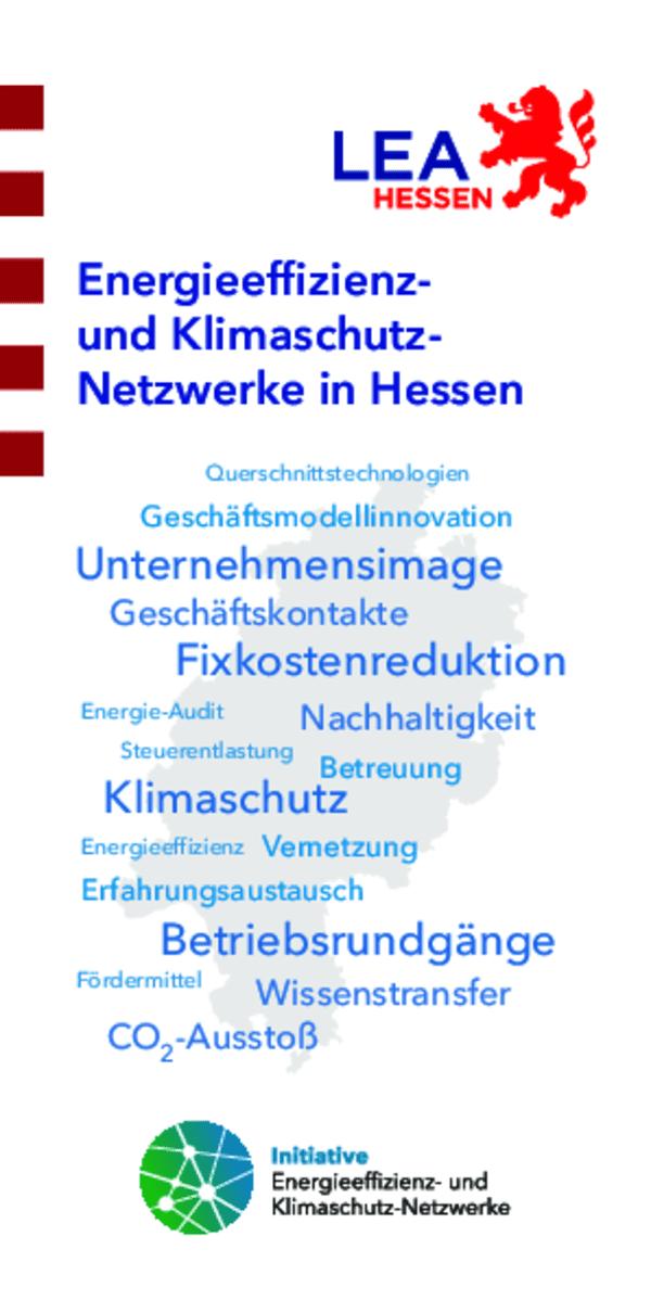 Flyer: Energieeffizienz- und Klimaschutz-Netzwerke in Hessen