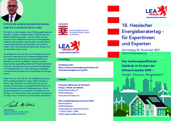 Flyer für den 18. Hessischen Energieberatertag